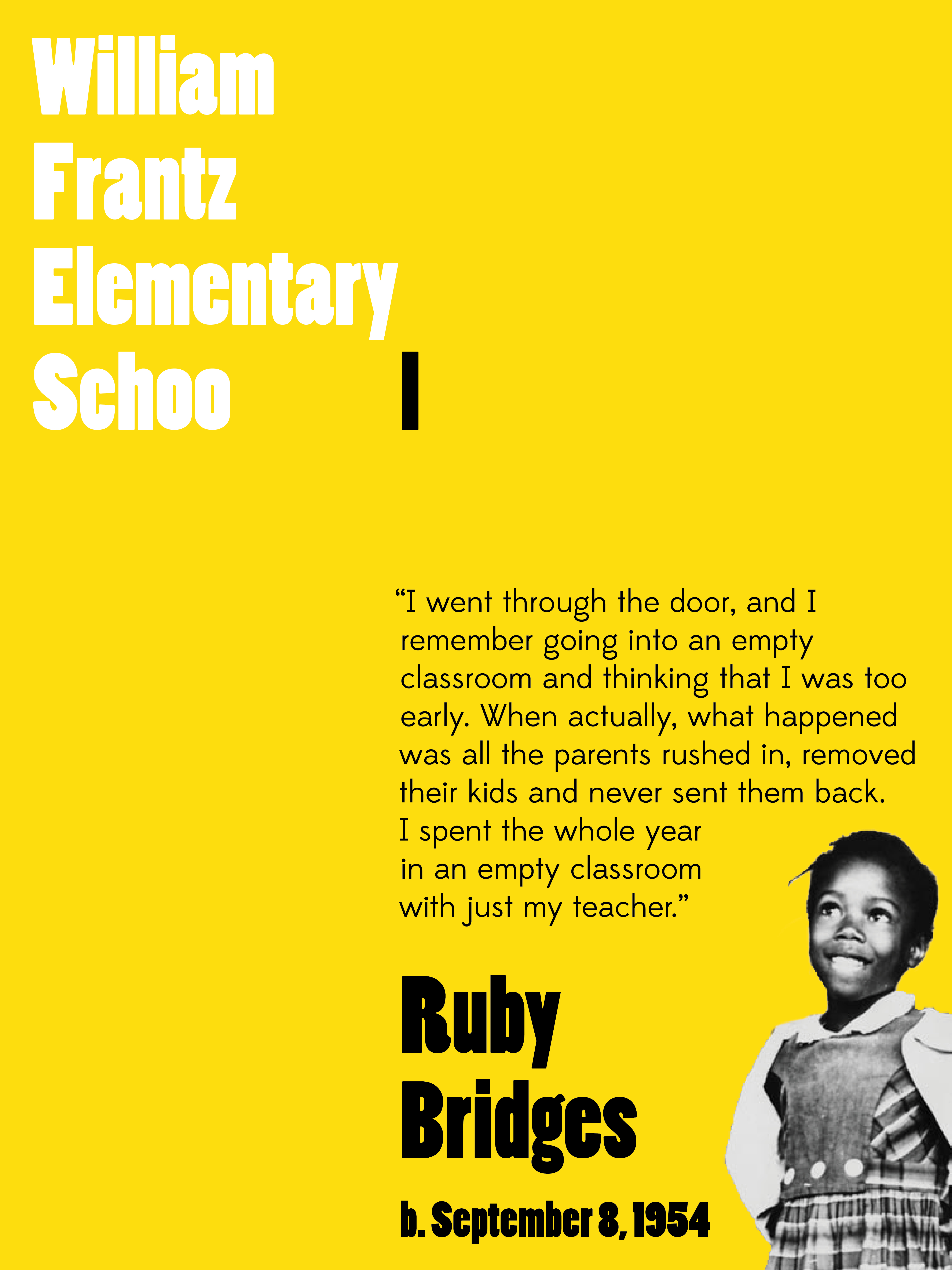 Ruby Bridges Quotes Inspiration Ruby Bridges Poster  Hello